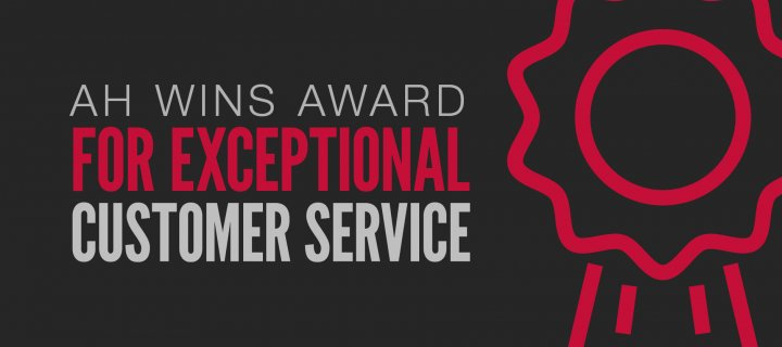 AH Wins Award for Exceptional Customer Service