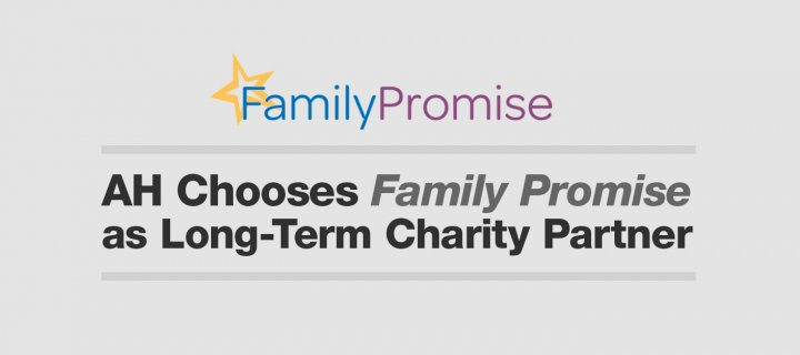 AH Chooses Family Promise as Long-Term Charity Partner